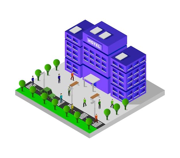 Isometrisches hotel