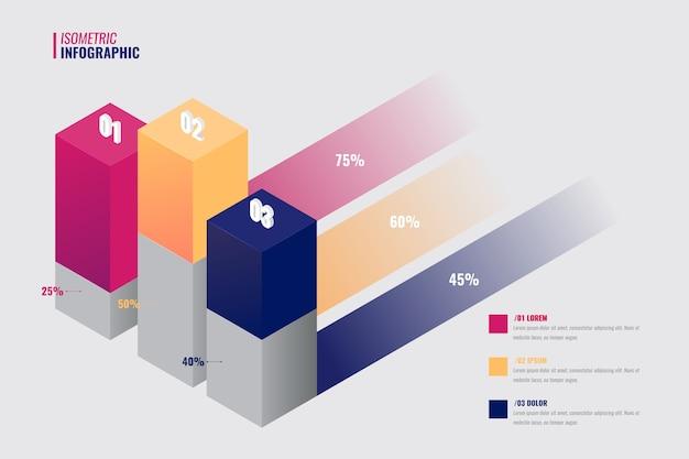 Isometrisches infografik-sammlungsthema