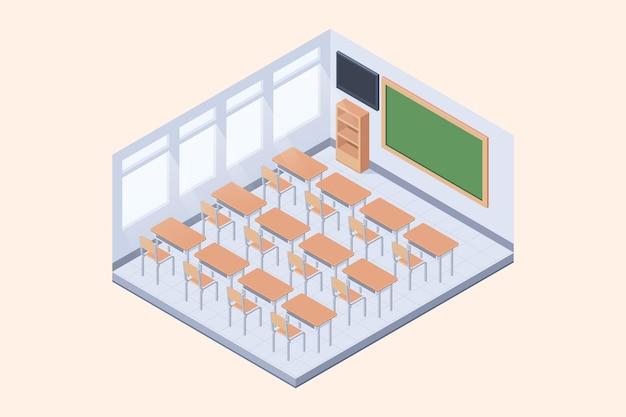 Isometrisches klassenzimmerkonzept