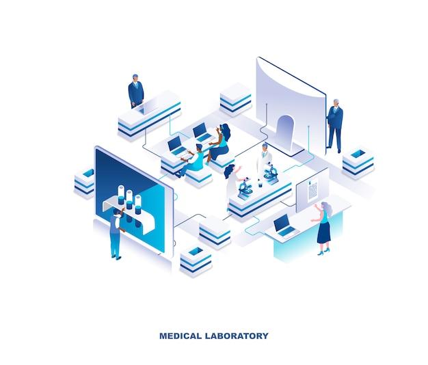 Isometrisches konzept des medizinischen labors