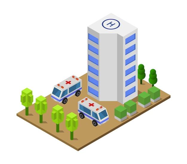 Isometrisches krankenhaus