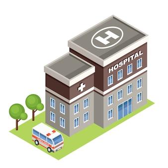 Isometrisches krankenhaus.