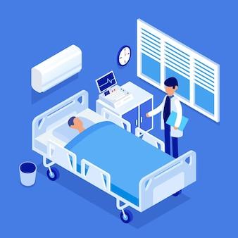 Isometrisches krankenzimmer