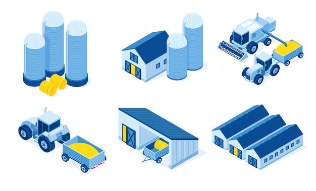 Isometrisches lagerhaus