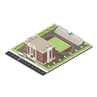 Isometrisches layout der schule
