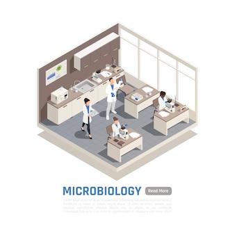 Isometrisches mikrobiologie-banner