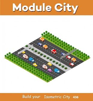 Isometrisches modul ist bereichslandschaft