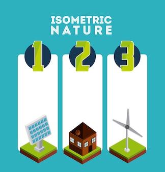 Isometrisches naturdesign