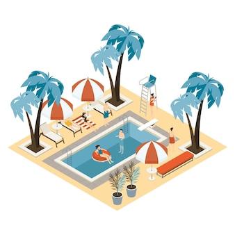 Isometrisches öffentliches schwimmbad