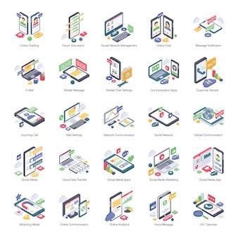 Isometrisches online-kommunikationspaket