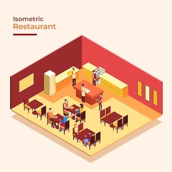 Isometrisches restaurant