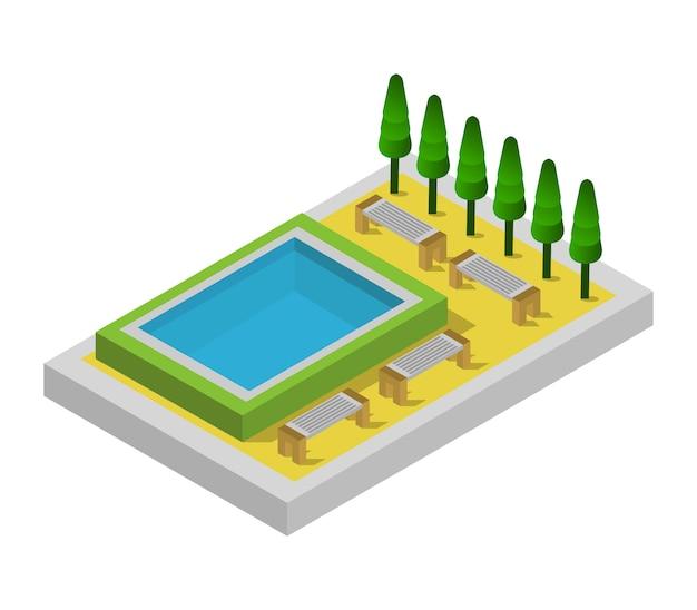 Isometrisches schwimmbad