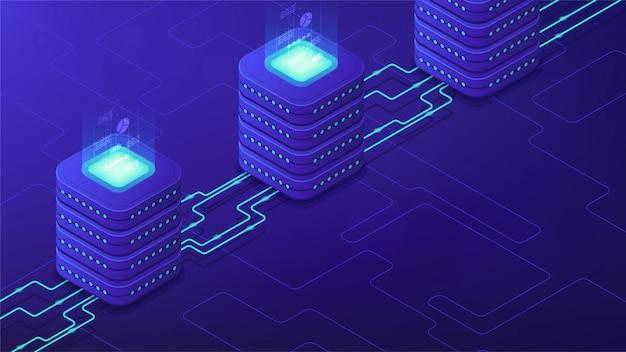 Isometrisches serverseitiges verarbeitungskonzept.
