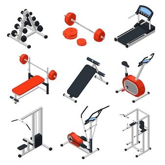 Isometrisches set für fitnessgeräte