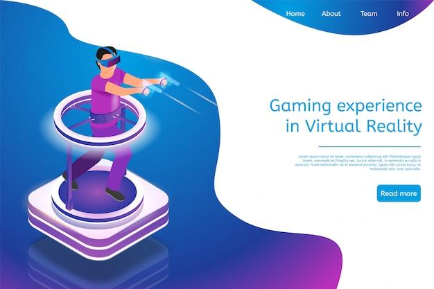 Isometrisches spielerlebnis in der virtuellen realität