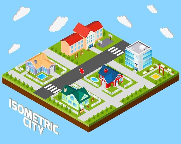 Isometrisches stadtprojekt