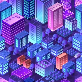 Isometrisches violettes purpur