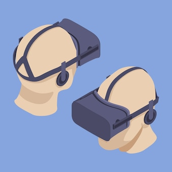 Isometrisches virtual-reality-headset