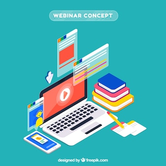 Isometrisches webinar-konzept