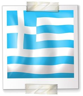 Israel flagge auf quadratischem papier