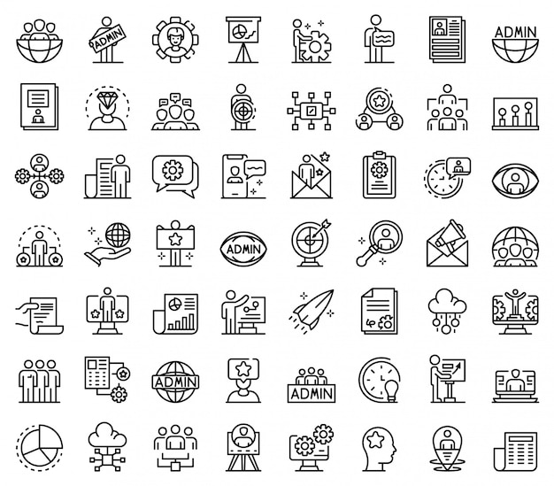 It-administrator icons set