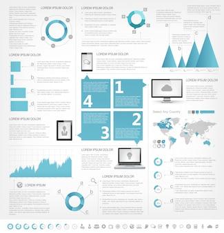 It-industrie infographik elemente