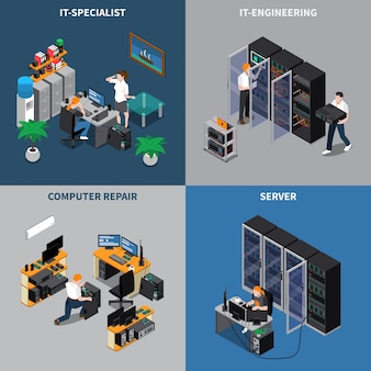 It-ingenieure 2x2 zusammensetzung set