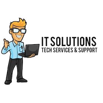 It service logo maskottchen vorlage