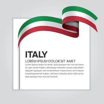 Italien-bandflagge, vektorillustration auf weißem hintergrund