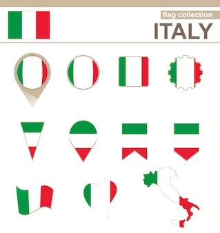 Italien flaggenkollektion, 12 versionen