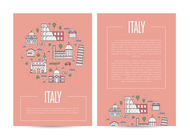 Italien land reisen werbeschablone