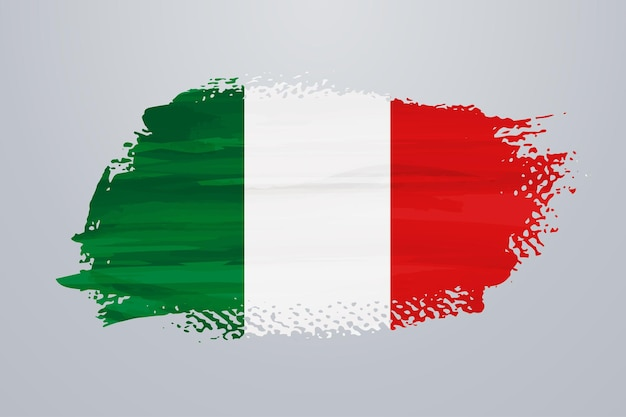 Italien pinselfarbe flagge