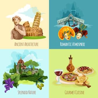 Italien touristisches set
