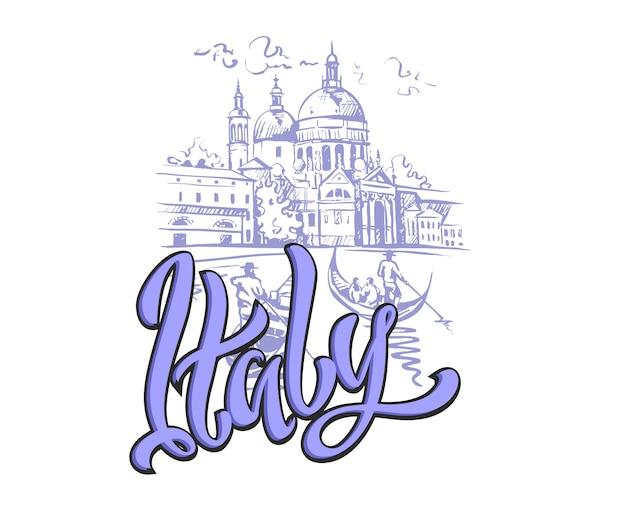 Italien. venedig. skizzieren.