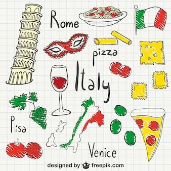 Italien zeichnungen packen