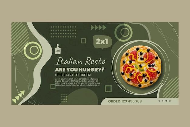 Italienische nahrungsmittelfahnenschablone