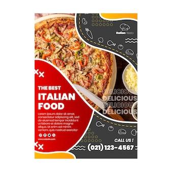 Italienische nahrungsmittelfliegerschablone