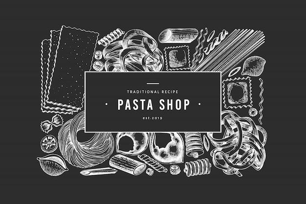 Italienische pasta banner