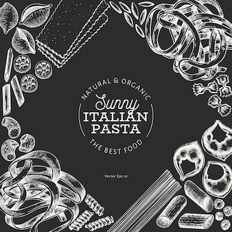 Italienische pasta hintergrund