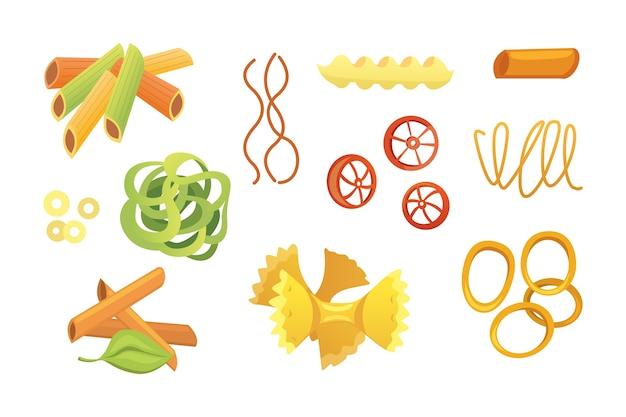 Italienische pasta im cartoon-stil