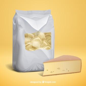 Italienischer tortellini und käse
