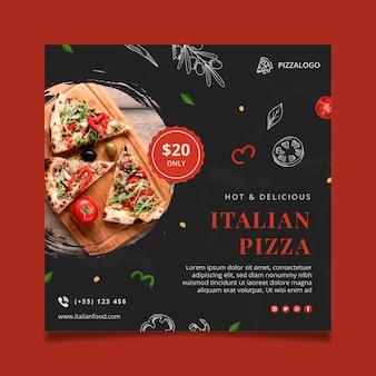 Italienisches essen quadratische flyer vorlage
