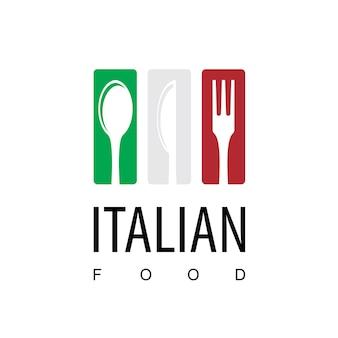 Italienisches restaurant-logo
