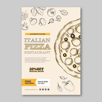 Italienisches restaurantschablonenplakat