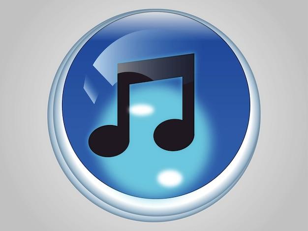 Itunes musik-app-symbol vektor