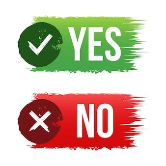 Ja oder nein mit kunstpinsel