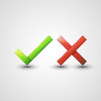 Ja oder nein symbole
