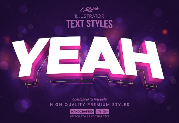 Ja, party text style