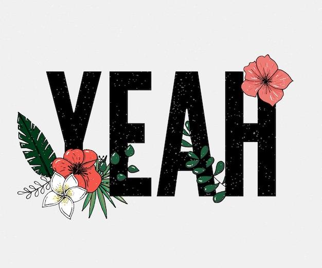 Ja slogan. perfekt für stift, karte, t-shirt design, poster, aufkleber, druck.