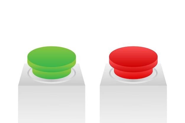 Ja- und nein-taste. feedback-konzept. positives feedback-konzept. wahltaste-symbol. vektorgrafik auf lager